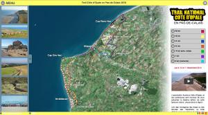 Capture du site Trail Côte d'Opale en Pas-de-Calais 2018