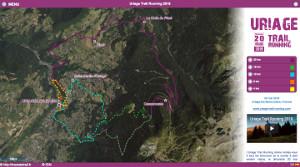 Capture du site Uriage Trail Running 2018